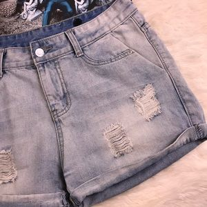 Calvin Klein Shredded distressed Perfect Shorts